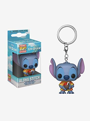Funko - Disney Lilo & Stitch-Aloha Stitch 4 Porte-clés, Multicolore, 128302