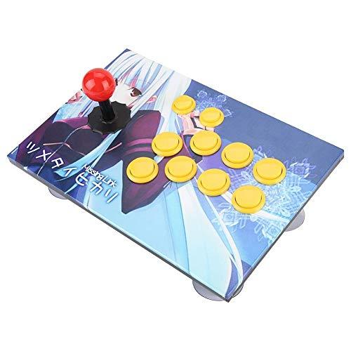 Gancon アーケードスティック、ゲームコントローラファイティングコンソール PCコンピュータゲーム USBロッカージョイスティック(8つのボタン)