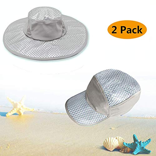 Wipkal 2 Pieces New Cooling Hat - Editor's Choice 2 Pcs Pack Sun Hat