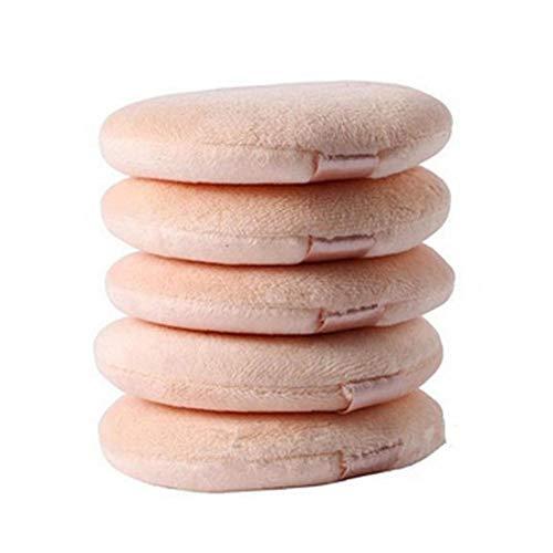 5 Pcs Flocking Round Makeup Sponge Air Cushion Powder Puff Blending Sponge for Liquid Cream and Powder
