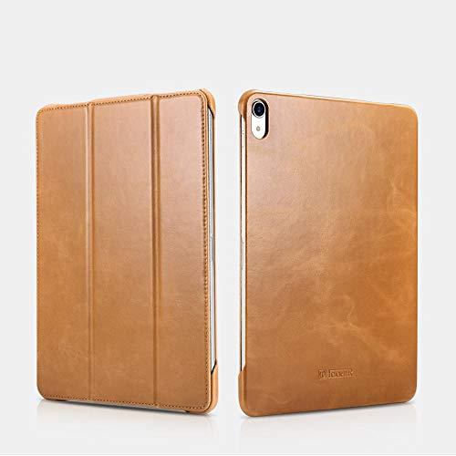 マーサリンク【正規品】iCARER 本革 ビンテージ レザーケース 三つ折り オートスリープ機能 Vintage Series Leather case 第2世代 アップルペンシル吸着携帯可能(ブラック、ブラウン、レッド、カーキ)4カラー選択 (iPad