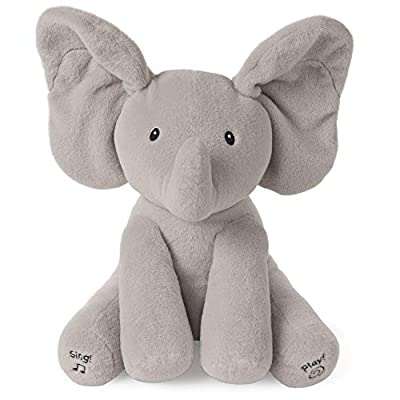 """GUND Baby Animated Flappy The Elephant Stuffed Animal Plush, Gray, 12"""" Collection by GUND"""