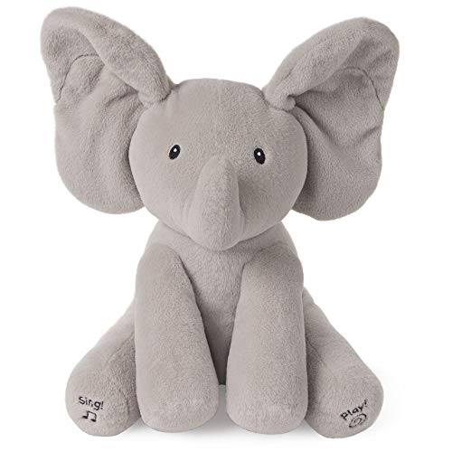 Baby GUND Animated Flappy the Elephant Stuffed Animal Plush, Gray, 12