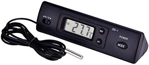 デジタル温度計 ミニ温度計 LCD温度計 温度測定 時間表示機能/華氏/摂氏表示/電池式/-50℃?+ 70℃対応 冷蔵庫 エアコン 冷凍庫 魚釣場 家庭 事務所 車