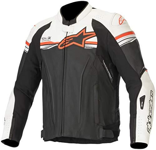 Alpinestars GP-R v2 Tech-Air Motorrad Lederjacke Schwarz/Weiß/Rot 46
