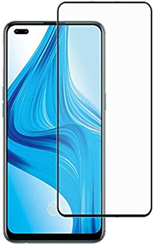 Prime Retail Anti Glare Scratch Proof Full Coverage 5D Tempered Glass for Oppo F17 Pro Black