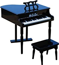 Schoenhut Classic Baby Grand Piano - 30 Keys Mini Keyboard Piano with Bench - Musical Instruments Learn to Play Wooden Classic Keyboard - Piano for Kids 3-12 Years - Toy Grand Piano Black