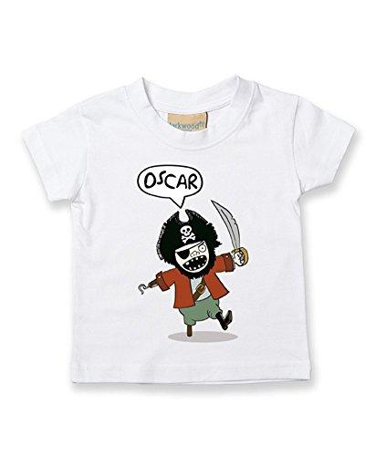 Ice-Tees T-shirt personnalisé pour bébé/enfant Motif pirate - Blanc - 2-3 ans