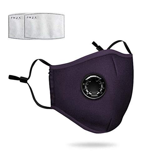 Stofmasker gezichtsmaskers met extra geactiveerde Carbon filters, PM2.5-stofmasker gasmasker, wasbaar fijnstofmasker, anti-vervuiling herbruikbaar mondmasker voor fietsen, hardlopen, reizen, klimmen