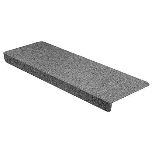 StickandShine Stufenmatte in dunkelgrau eckig für Treppenstufen, Treppenstufenmatte zum aufkleben