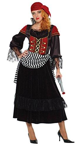 Karneval-Klamotten Piratenbraut Seeräuberin Kostüm Damen Piraten-Kostüm Piratin mit Kopftuch