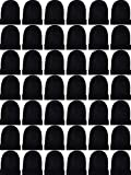 SATINIOR 60 Pieces Winter Beanies Cold Weather Warm Knit Skull Caps Unisex Hats for Men Women (Black)