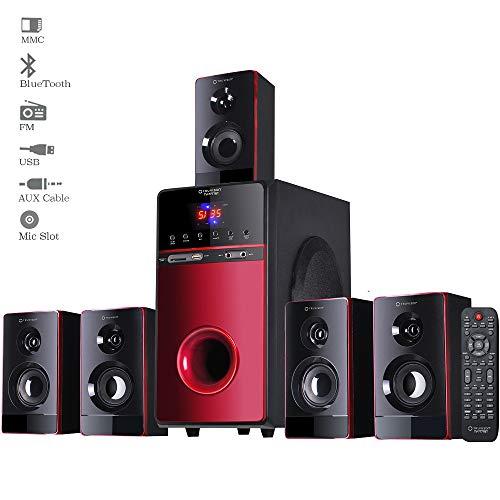 TV-7777BT, 5.1 Home Theater Speaker System Bluetooth, 20000 Watts PMPO Multimedia Surround...