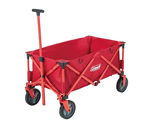 Coleman Collapsible Camping Wagon, Foldable Pull Wagon, 4 Wheel Festival Trolley, Portable Hand Cart