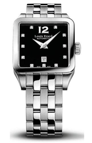 Louis Erard 20700AA12 - Reloj analógico automático para Mujer con Correa de Acero Inoxidable, Color Plateado