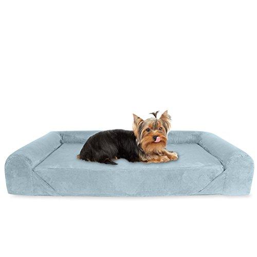 KOPEKS Sofá Cama ortopédico de Espuma viscoelástica para Perro, tamaño pequeño, Color Gris