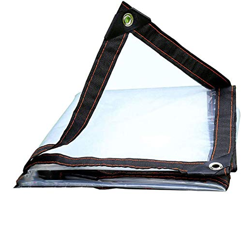 MKWEY Hoja De Lona 4mX10m, Lona PVC Impermeable Transparente, Lonas Exterior, con Ojales Y Lonas Y Cuerda De 5m, para Casa, Jardín, Exteriores Y Camping