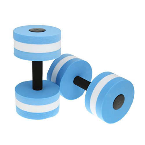 Water Aerobics Dumbbell Workout EVA Foam Aquatic Barbell Fitness Pool Exercise