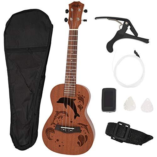 Ctzrzyt Konzert Ukulele Kits 23 Zoll 4 Saiten Akustische Gitarre Mit Tasche Tuner Capo Gurt Stings Picks Für Anffnger