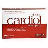 CARDIOL® forte - Suplemento de colesterol con Omega-3 EPA/DHA, Monacolina K por cápsula de arroz rojo, CoQ10 y extracto de oliva - 90 mini cápsulas
