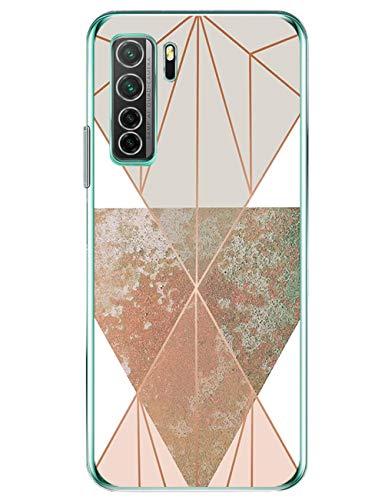 kinnter Transparent Hülle Kompatibel Mit Huawei P40 lite 5G Hülle Silikon Handyhülle TPU Soft Bumper Stoßfest Schutzhülle Ultra Dünn Case Für Huawei P40 lite 5G Tasche Cover Männer Frau Mädchen