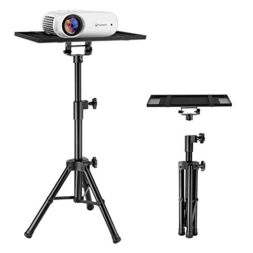 VANKYO Universal Laptop Projector Stand with 15'' x 11'' Plate Size, Holder Mount Tripod height Adjustable up to 37''