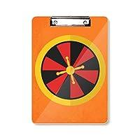 カジノのターンテーブルの要素のイラスト フラットヘッドフォルダーライティングパッドテストA4