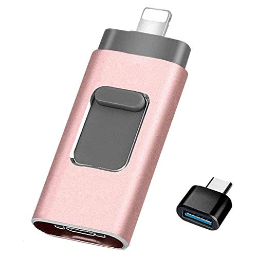 USB Flash Drive 128GB [3-in-1], Kimiandy USB 3.0 Adapter External Storage Memory Stick Adapter Expansion Compatible with Mac/Android/PC/