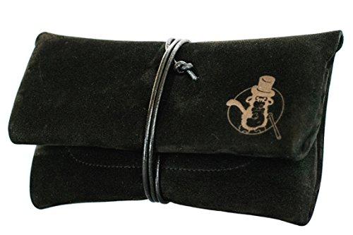 Tabaktasche SEÑOR BOBO - Handgemacht in DE - mit Filterfach - Manufaktur-Qualität aus Bayern - Premium Nubuk-Leder - Tabakbeutel