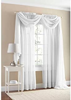 Mainstays Marjorie Sheer Voile Curtain Panel 59 x 84, White