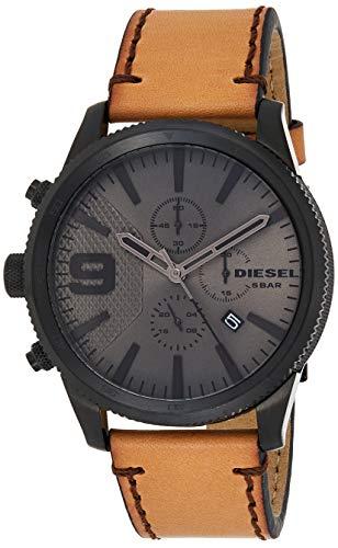 Diesel Homme Chronographe Quartz Montre avec Bracelet en Cuir DZ4468