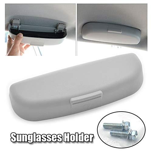 Sonnenbrillenaufbewahrung Car Styling Zubehör Sonnenbrillen Inhaber Brille Aufbewahrungsbehälter-Kasten for Mitsubishi ASX Lancer Outlander Challenger Nativa Für Autos (Color : Grey)