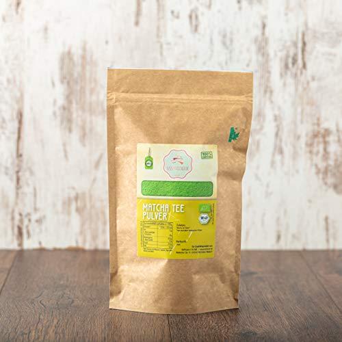 süssundclever.de® Bio Matcha Tee Pulver aus Japan | 250 g | Premium Qualität | plastikfrei und kompostierbare Bio-Verpackung