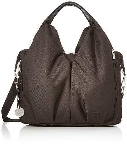 LÄSSIG Baby Wickeltasche nachhaltig inkl. Wickelzubehör nachhaltig produziert/Green Label Neckline Bag, schwarz