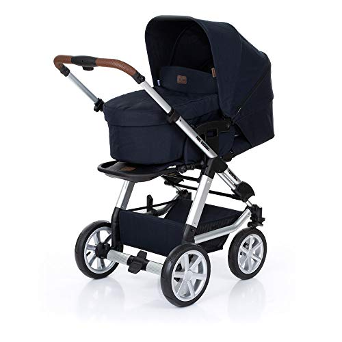 ABC Design Kombi-Kinderwagen Tereno 4 Air - inkl. Babywanne und Sportsitz - Shadow