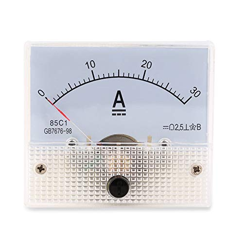 greenwoodhomer DC 30 A Analog-Ammeter, 0–30 A Strommessgerät, analoges Amperemeter-Panel