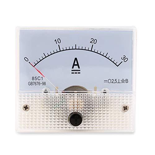 greenwoodhomer DC 30 A Analog-Ammeter, 0–30 A Strommessgerät, analoges Amperemeter-Panel