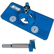 Kreg Concealed Hinge Jig and 35mm Concealed Hinge Jig Bit Bundle (2 Items)