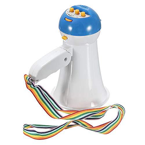 WXJHA Plegable portátil de Mano megáfono Amplificador del Altavoz del Registrador del megáfono de fútbol, fútbol, béisbol, Hockey, Baloncesto Los Aficionados Cheerleading,Azul