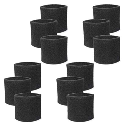 Fette Filter - 12 Pack of Multi-Fit Wet Vac Filters VF2001TP Compatible with Wet Dry Vacuum Cleaner Fits Most Shop-Vac, Vacmaster & Genie Shop Vacuum Cleaners