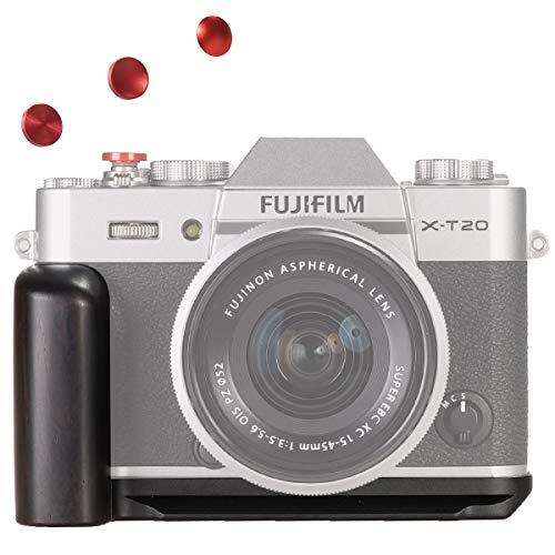 WEPOTO XT20B黑檀木製カメラグリップメタルブラケットハンドルL-ブラケットFujifil富士X-T30/X-T20T10に適用
