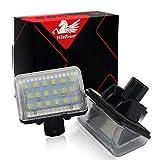 WinPower LED Luces de matrícula para coche Lámpara Numero plato luces Bulbos 3582 SMD con CanBus No hay error 6000K Xenón Blanco frio para CX-5 / CX-7 / Mazdaspeed6 etc, 2 Piezas