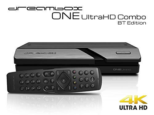 Dreambox One Combo Ultra HD BT 1x DVB-S2X MIS / 1xDVB-C/T2 Tuner 4K 2160p E2 Linux Dual WiFi H.265 HEVC