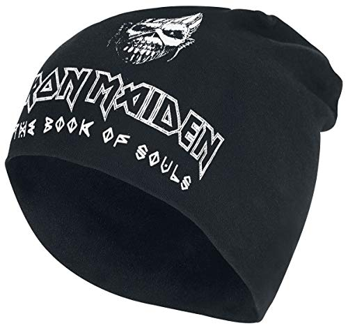 Générique Iron Maiden The Book of Souls - Jersey Beanie Unisexe Bonnet Noir, 100% Coton,