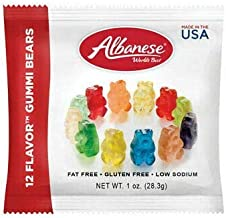 Blue Hippo Albanese 12 Flavor Assorted Gummi Bears 1 ounce (Pack of 30)