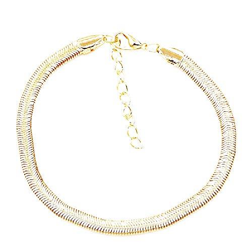 Slangenbandje - vrouw - meisje - vrouw - zee - shirt - zomer - strand - mode - zwembad - goud - verstelbaar - kerstmis - origineel cadeau-idee - sieraden - verjaardag