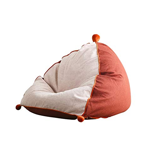 FINDYU Bean Bags, Washable Cover Lazy Sofa For Kids Adults Living Room Soft Comfortable Bean Bags With Particle Filling (Color : White)