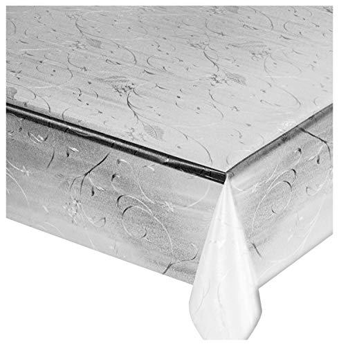 Emmevi LUX5 Nappe de cuisine, motif imprimé moderne, transparente, vendue au mètre, hauteur 140 cm, anti-taches, en PVC
