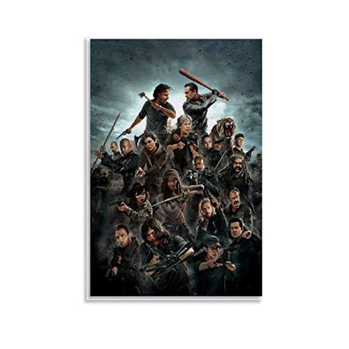 YGHJK Póster de TV Play Poster de The Walking Dead en lienzo y arte de la pared de la impresión moderna para dormitorio familiar de 20 x 30 cm