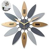 NBVCX Productos para el hogar Reloj de Pared Reloj de Pared Grande Diseño en Forma de Hoja Reloj de Pared silencioso Reloj de decoración de Estilo nórdico Creativo para Sala de Estar/Oficina A 60CM